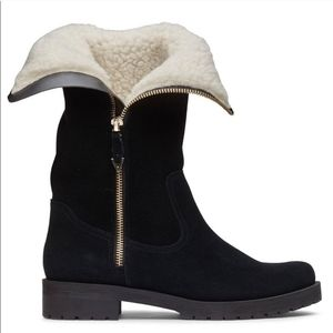New Vionic Mystic Mica shearling suede boots